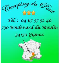 Carte camping du pont à Gignac